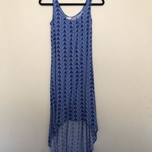 Blue and White Maxi Hi-Lo Dress Size XS